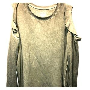 Olive Cold Shoulder Sweatshirt